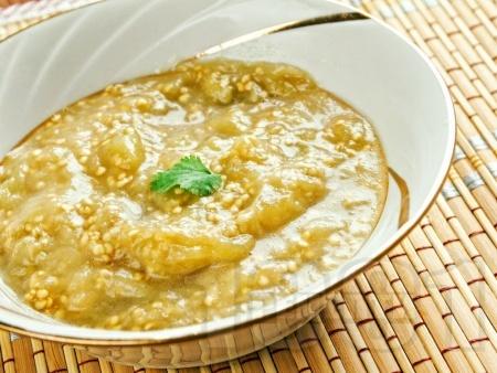 Разядка малиджано с печени патладжан и зелени чушки - снимка на рецептата